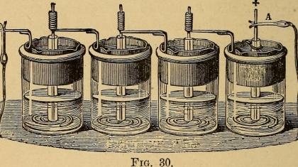 Callaud-Element, eine um 1860 entwickelte Batterie, die für Jahrzehnte in Telegrafenstationen benutzt wurde.